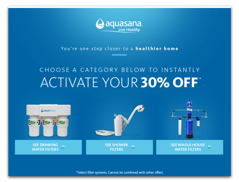 50% off Select Drinking Water.